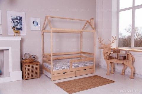 Кроватка-домик с ящиками