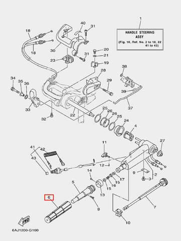 Ручка газа для лодочного мотора F20 Sea-PRO (16-6)