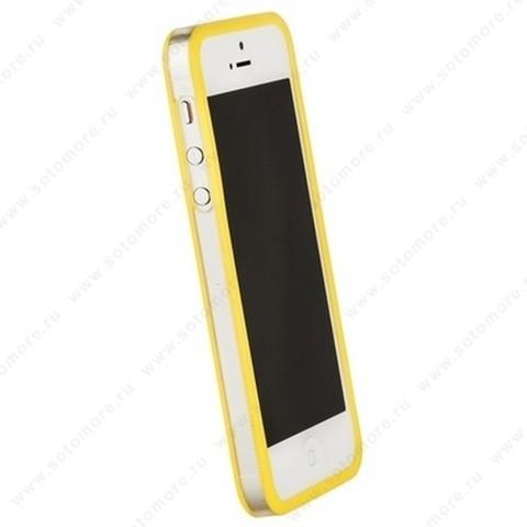 Бампер GRIFFIN для iPhone SE/ 5s/ 5C/ 5 желтый с прозрачной полосой