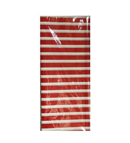 Бумага тишью Полоска, 10 шт., 50x66 см, цвет: красный