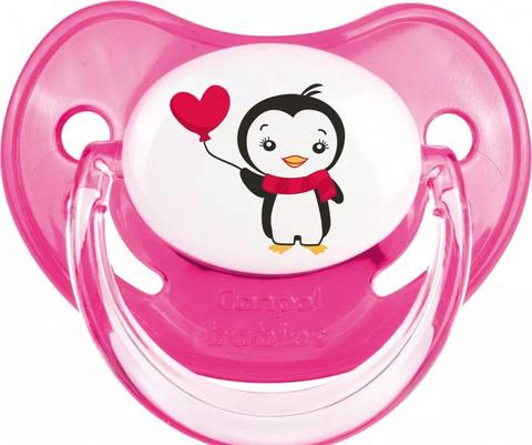 Пустышка анатомическая силиконовая, 6-18 Penguins (розовый)