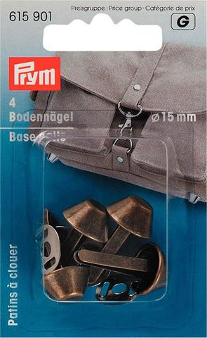 Ножки для дна сумки 15 мм 4шт цвета состаренной латуни (Арт. 615901)