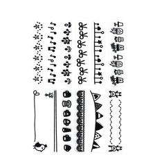 Штампы силиконовые, набор 12*25 см.