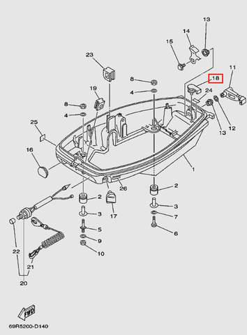 Заглушка для лодочного мотора Т30 Sea-PRO (11-18)