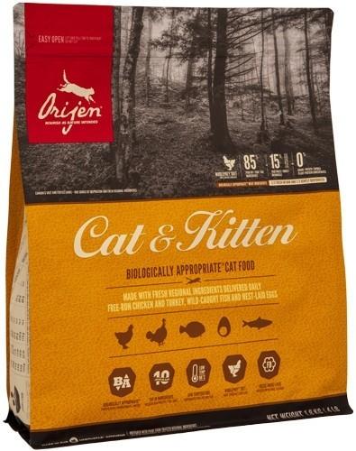 Сухой корм Беззерновой корм для кошек и котят всех пород, Orijen Cat & Kitten кош_и_кот_1.8.jpg