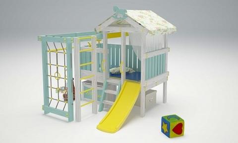 Деревянный игровой комплекс - кровать