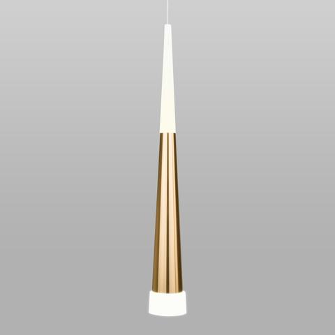 Подвесной светодиодный светильник DLR038 7+1W 4200K золото