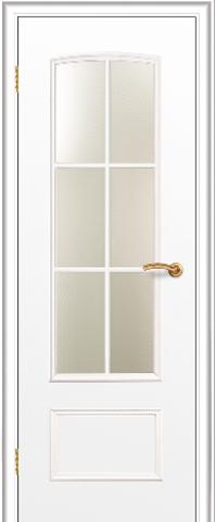 Дверь Краснодеревщик ДО 208, цвет белый, остекленная