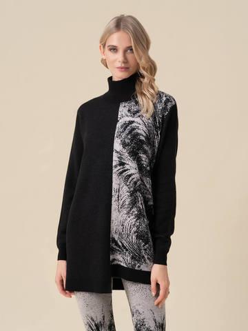 Женский свитер черного цвета из кашемира и вискозы - фото 2