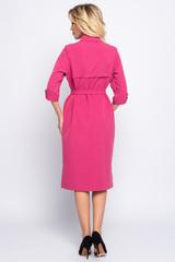 <p>Платье - рубашка&nbsp; -&nbsp; превосходный выбор для современных модниц, желающих выглядеть стильно, модно и элегантно всегда и везде. Платье свободного кроя, рукав 3/4 с патой, по переду и спинке эффектная кокетка. (Длины: 46-104см; 48-106см; 50-107см; 52-108см)&nbsp;</p>