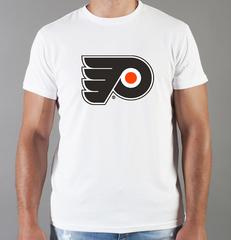 Футболка с принтом НХЛ Филадельфия Флайерз (NHL Philadelphia Flyers) белая 002