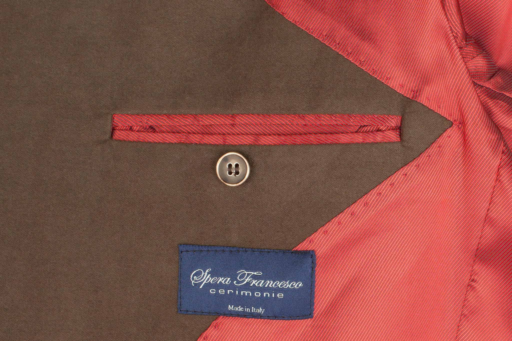 Зелёный (и коричневый) блейзер из 100%-ной шерсти, внутренний карман