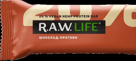 БАТОНЧИК НАТУРАЛЬНЫЙ R.A.W. LIFE Шоколад-протеин