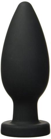 Чёрная анальная пробка XXL - 17,1 см.