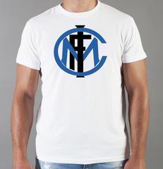 Футболка с принтом FC Internazionale (ФК Интернационале) белая 003