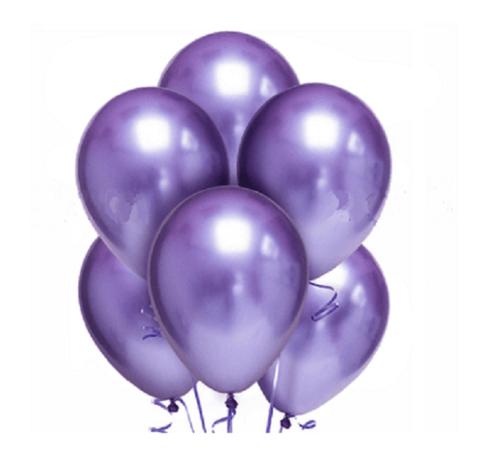Воздушные шары хром фиолетовые