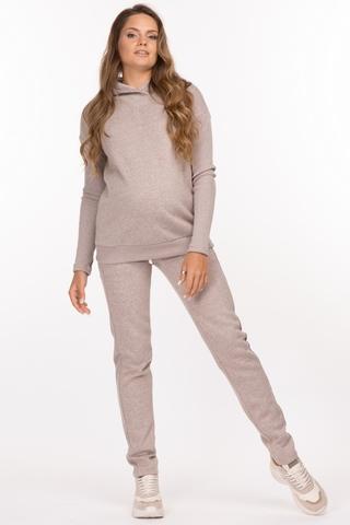Утепленный спортивный костюм для беременных и кормящих 11900 коричневый