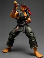 Super Street Fighter IV Play Arts Kai Figure - Evil Ryu Black