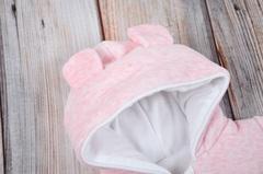 Велюровый комбинезон Кроха розовый