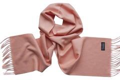 Шерстяной шарф розовый 01402