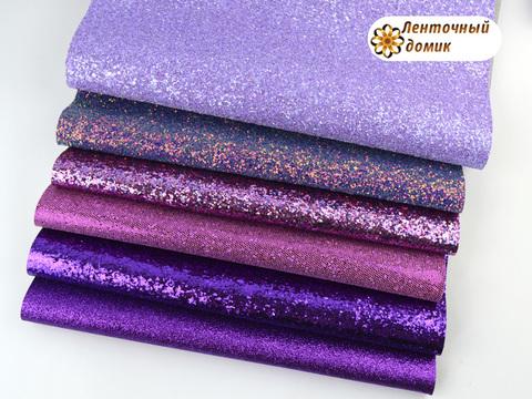 Комплект эко-кожи фиолетовый (экономия 10%)