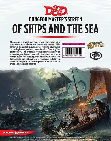 D&D Dungeon Master's Screen Of Ships & The Sea