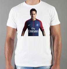Футболка с принтом Неймар (Neymar) белая 002
