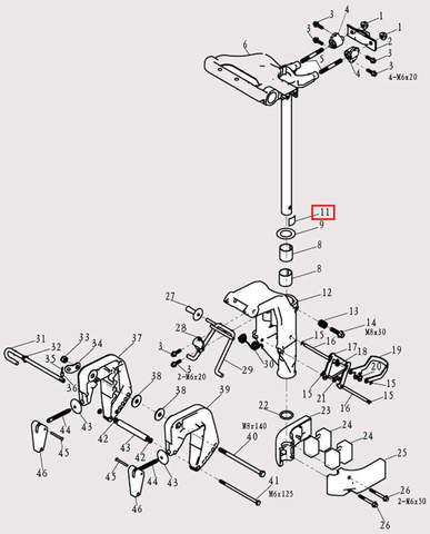 Зажим для лодочного мотора F9.8 Sea-PRO (13-11)