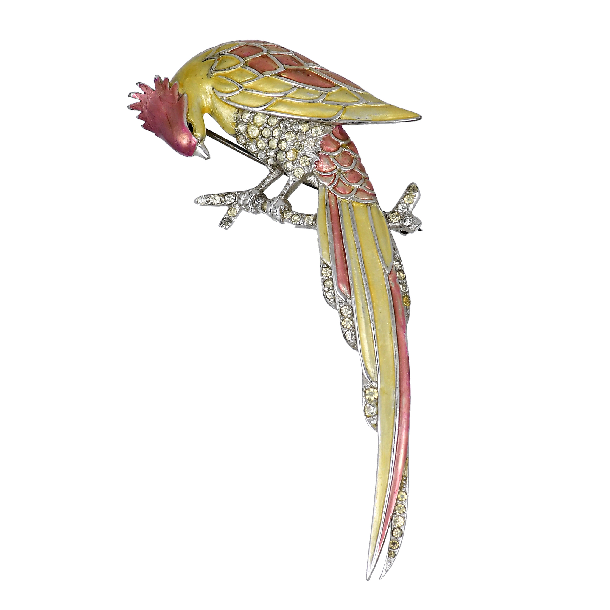Collectible Bird brooch by Boucher, 1940. Book piece