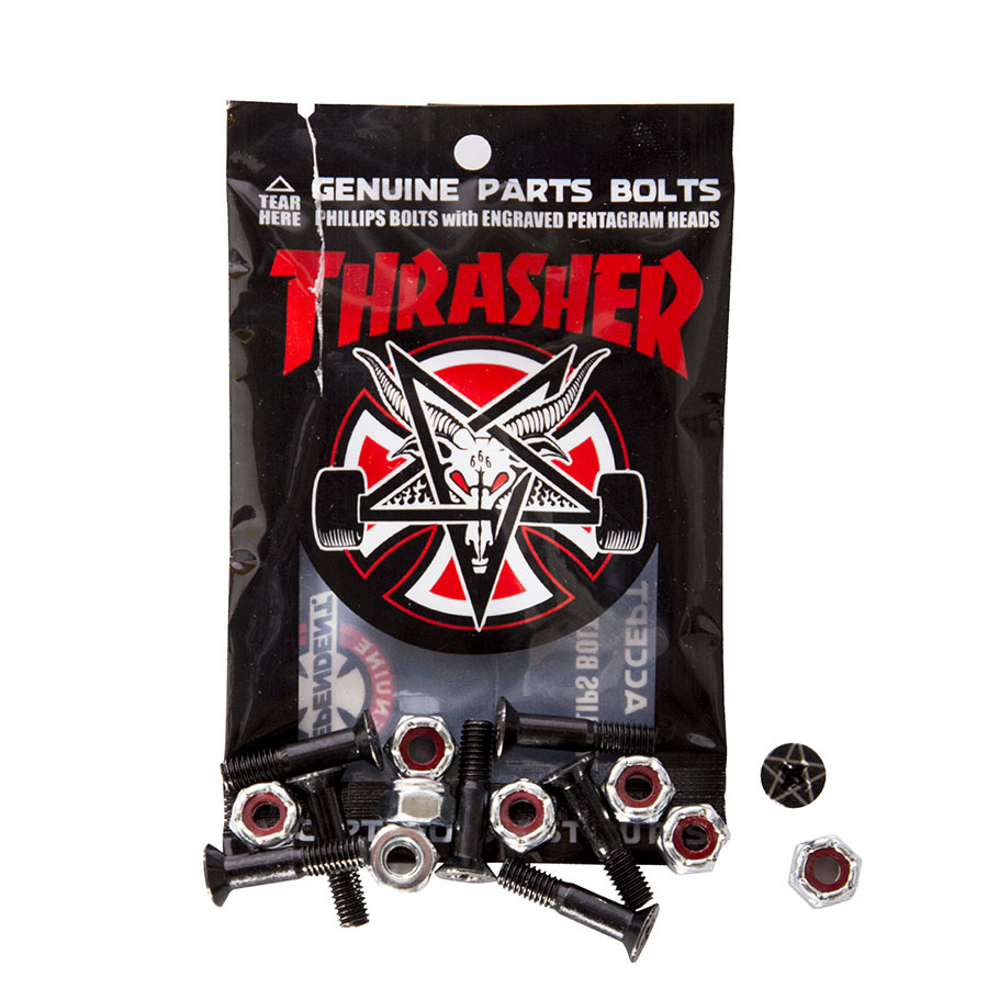 Винты INDEPENDENT x THRASHER Phillips Hardware (Black/Silver)