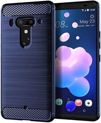 Чехол HTC U12 Plus (Exodus 1) цвет Blue (синий), серия Carbon, Caseport