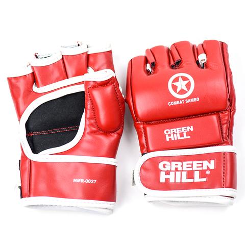 Перчатки Combat Sambo Green Hill красные