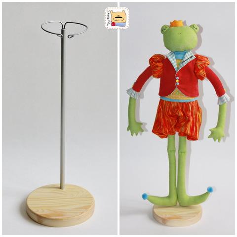 Подставка для кукол круглая D=11.5см (сосна) с держателем
