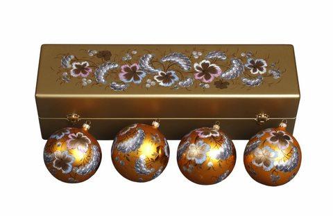 Набор из 4 елочных шаров в шкатулке SET04D-667785814