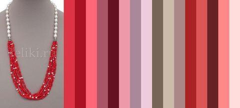 цветовая палитра в красных оттенках для одежды