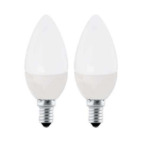"""Лампа (комплект 2 шт.) Eglo LED LM-LED-E14 2X4W 320Lm 3000K C37 """"Свеча"""" 10792"""