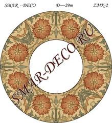 Эскиз для росписи, Зеркало диаметр 29см, SMAR-zmk-2