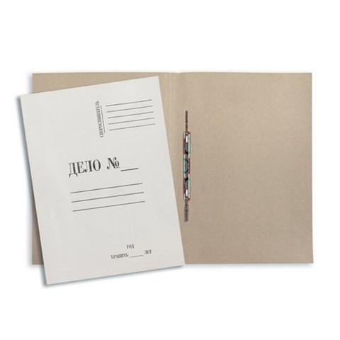Скоросшиватель картонный Дело № А4 до 200 листов белый (плотность 220 г/кв.м, 20 штук в упаковке)