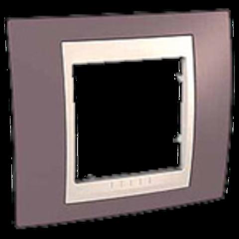 Рамка на 1 пост. Цвет Лиловый/Белый. Schneider electric Unica Хамелеон. MGU6.002.876