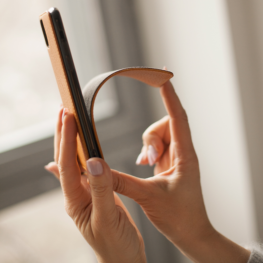 Чехол для iPhone 11 из натуральной кожи теленка, цвета золота