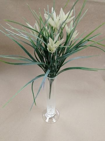 Зелень с цветами на вставке, 34см, белый