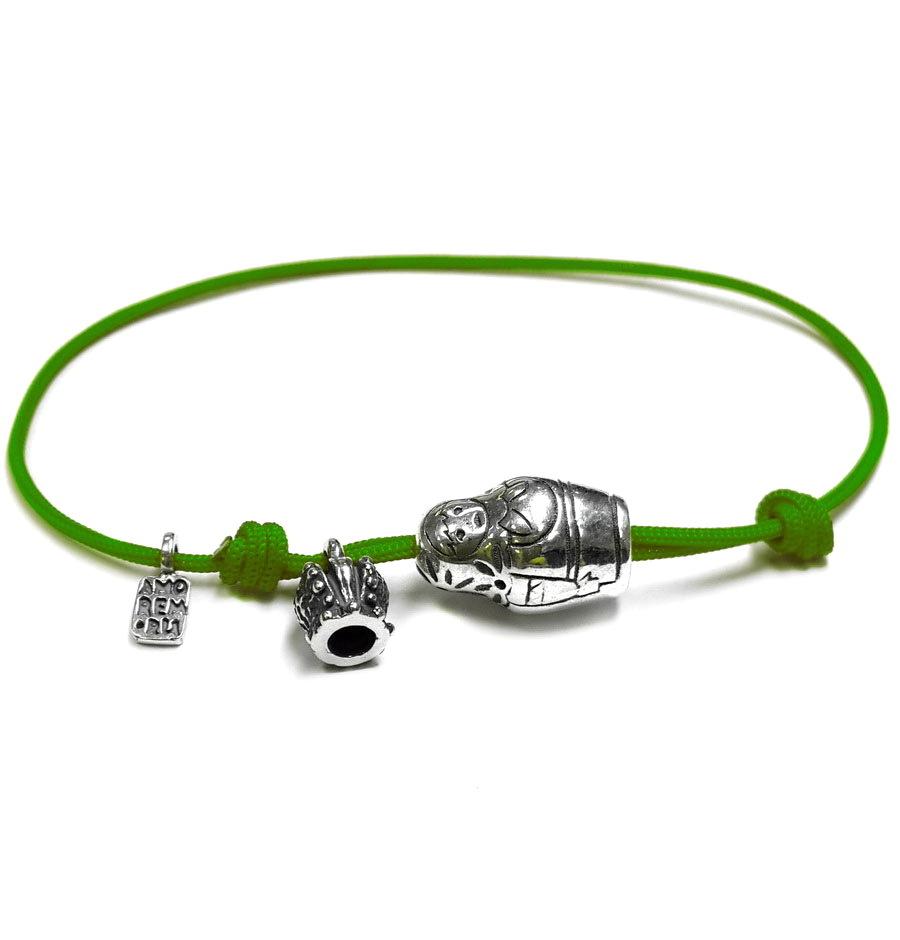 Matryoshka bracelet, sterling silver