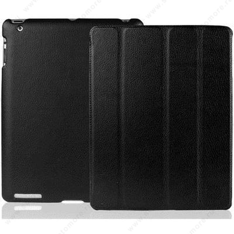 Чехол-книжка Jisoncase для Apple iPad 4/ 3/ 2 без логотипа черный SLE