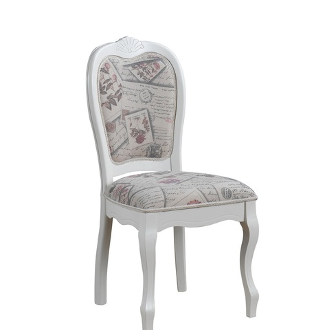 Стул Princess  деревянный с мягким сиденьем молочный белый