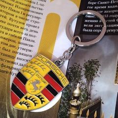 Брелок Порше (Porsche) для ключей автомобиля с логотипом