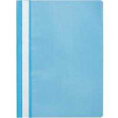 Скоросшиватель пластиковый Attache Economy A4 до 100 листов голубой (толщина обложки 0.11 мм, 10 штук в упаковке)