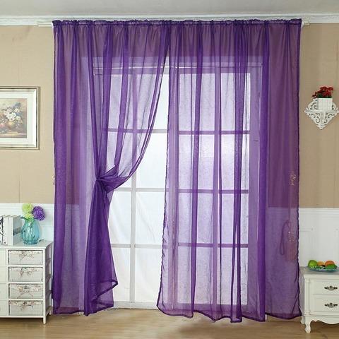 Тюль вуаль на шторной ленте. Фиолетовый. оптом. Арт. Kv205