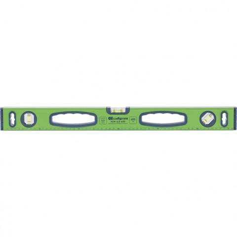 Уровень алюминиевый УСМ-0,5-1200, фрезерованный, 3 глазка, магнитный, рукоятки, 1200 мм Сибртех