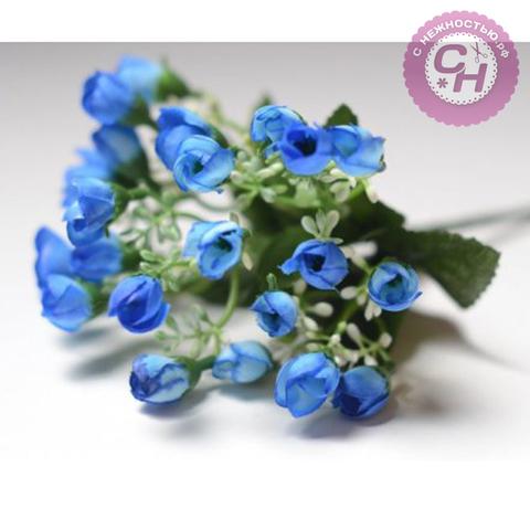 Розы искусственные мелкие, букет 20-25 цветков, 22 см.
