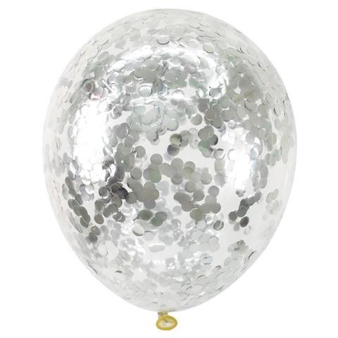 Воздушные шары с блестками (конфетти)